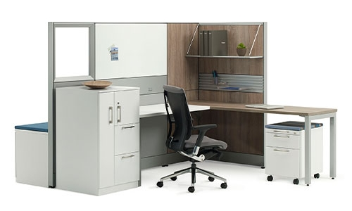 Fully Fill Out Spaces with Long Office Desk Furniture