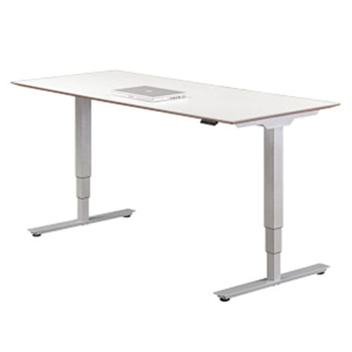 White-Adjustable-Height-Table
